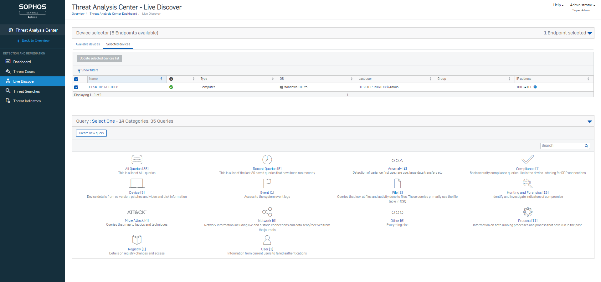 Sophos baut Endpoint Detection and Response (EDR) mit neuer Version aus