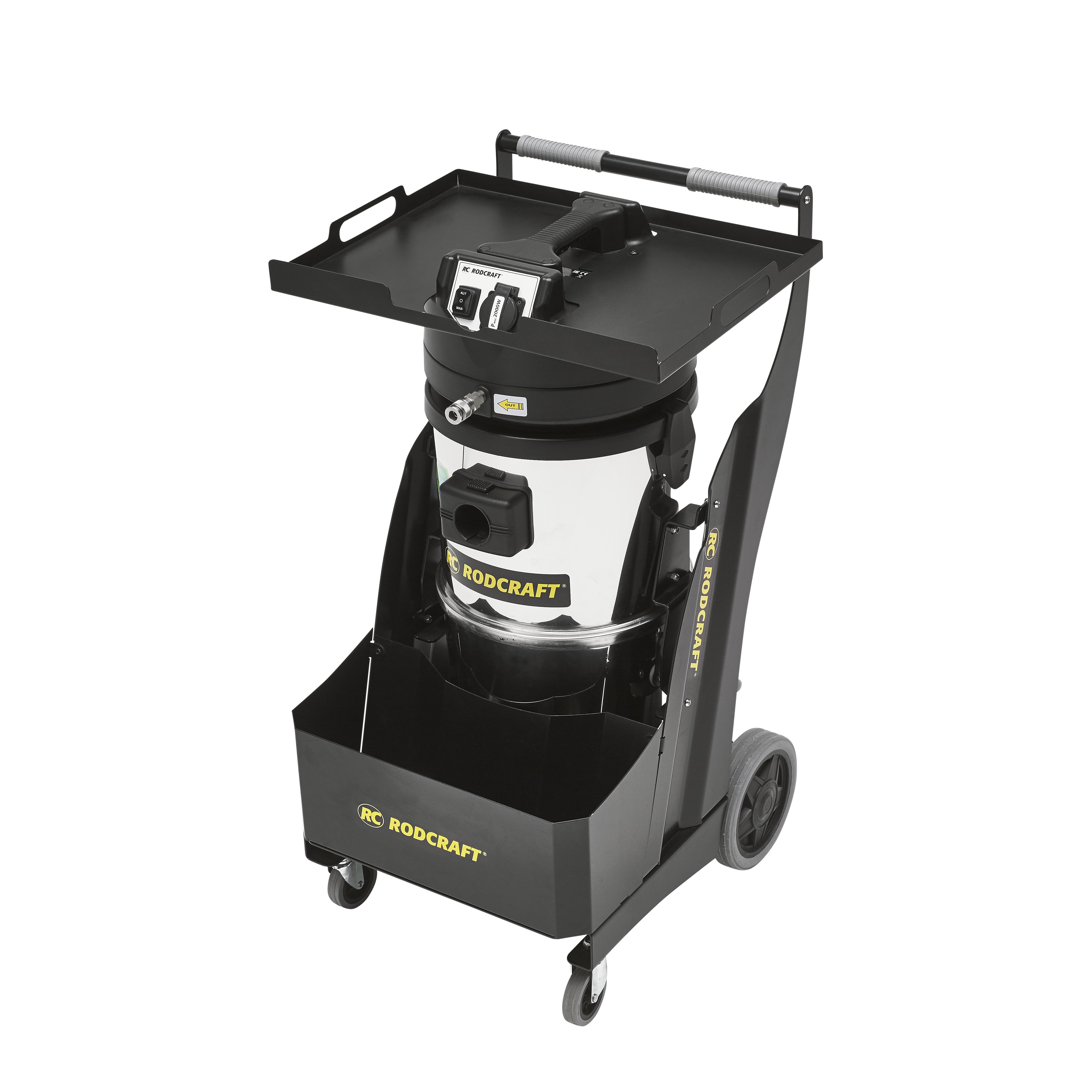 Alles sauber und sicher mit dem H 14 zertifizierten Rodcraft Industriestaubsauger RC7915 für elektrische und druckluftbetriebene Schleifmaschinen