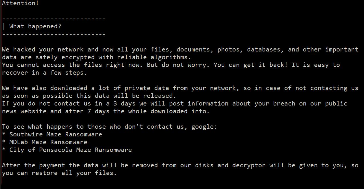 Maze-Ransomware-Triple und doch kein Tor: Angreifer trotz modifizierter Attacken erfolglos